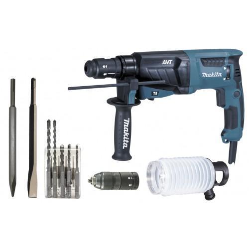 Perforateur burineur MAKITA HR2631FTX4 SDS-Plus 800W 26mm avec coffret alu et accessoires