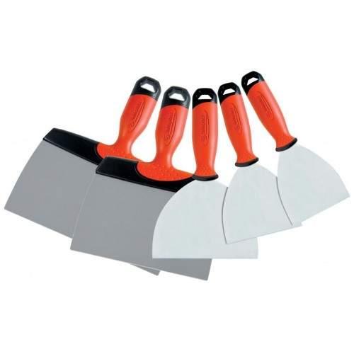 Ensemble 5 couteaux à enduire inox