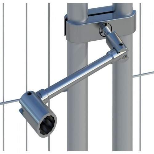 Clé pour collier de clôtures de chantier