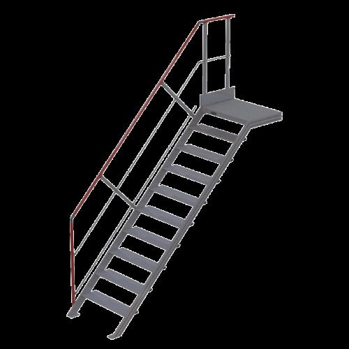 Escalier droit à palier - inclinaison...