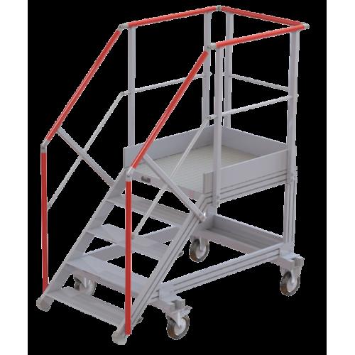 Plateforme roulante en aluminium