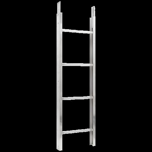 Section échelle pour monte-matériaux...