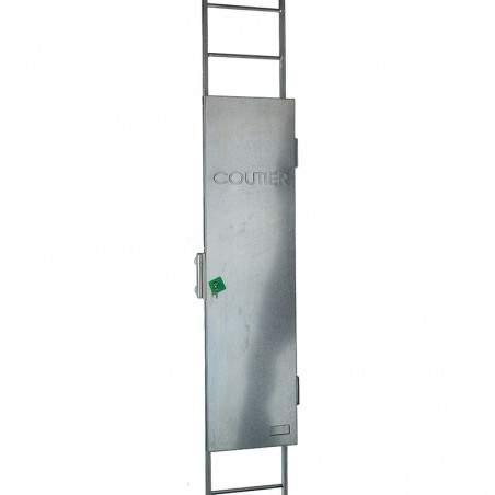 condamnation échelle à crinoline sans opercule avec dispositif de maintien en position ouverte