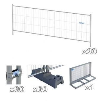 cloture chantier basse et accessoires