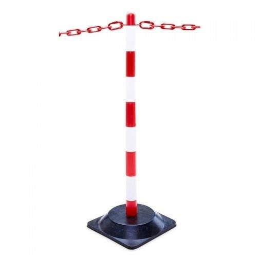 Lot de 2 poteaux rouge/blanc pour...