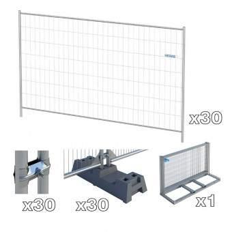 lot 30 clôtures de chantier et accessoires