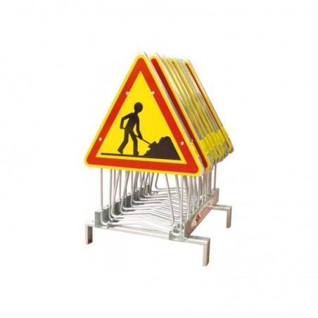 rack de stockage pour 10 panneaux de signalisation