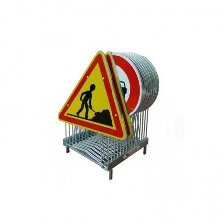 rack de stockage pour 15 panneaux de signalisation