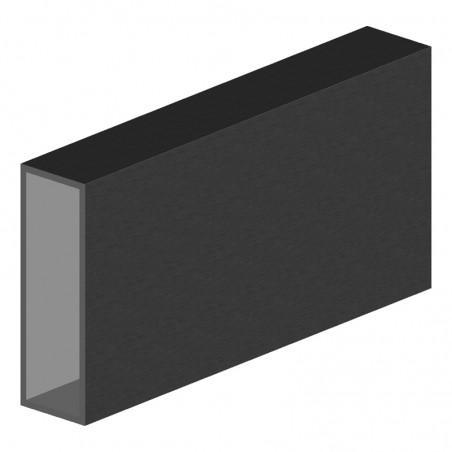 tube aluminium rectangulaire 150x50x4 mm