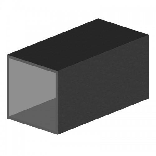 tube carré aluminium 120x120x5 mm longueur 6m