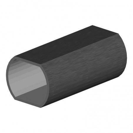 tube rond en aluminium Ø40 mm longueur 6080 mm avec 2 méplats