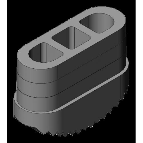 patin antidérapant 65x25 mm gris