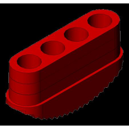 patin antidérapant échelle 90x25 mm rouge