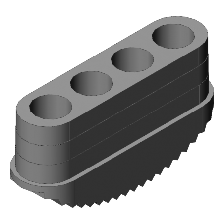 patin antidérapant échelle 90x25 mm gris