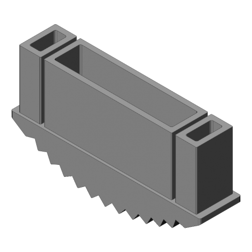 patin antidérapant 115x25 mm gris